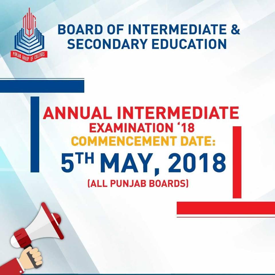 Intermediate Exam Date 2018