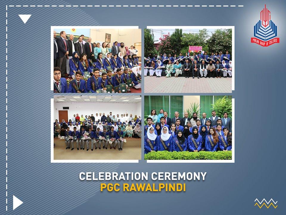 PGC Rawalpindi celebrating the success of high achievers