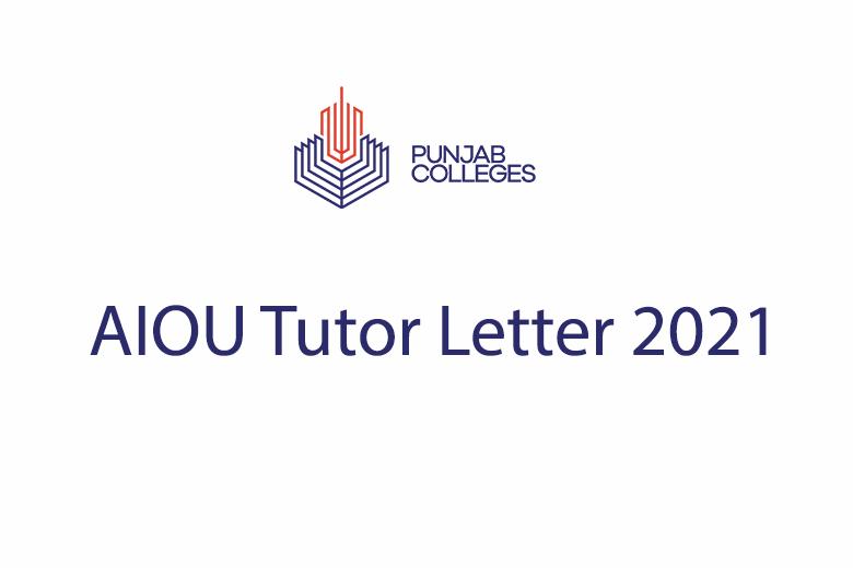 AIOU Tutor Letter 2021